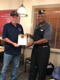 Henry (Billy) Williams was recognized was his support in the Annual GC Fund raising campaign with more than 90 hours to his credit. Without his support the chapter would not have raised over 12K in funds. Thanks you Billy job well don.
