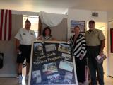 Homeless Veterans Shelter in Punta Gorda on 09/28/14.  Carl Turner took the picture.  Fro left to right: Peter Palkowski (Adjutant), Karrie Wilson (Health Service Manager & Director), Stacy Easterling (Program Specialist), Ron Price