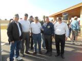 The crew: Ron Popp, Ron Price, Stu Sprouse, Pete Schwarz and Don Proto at the Iwo Jima Memorial Service on February 21, 2015