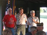"""Our Well Respected Service Officers  Paul Schlisser and Clint Meshew updates the chapter on the new nursing home that they are working on. They are saying, """"Contact your Representatives and let them know how much we need one in our area."""""""
