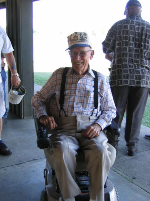 World War II Member John Elder.He sure does like his new wheels,Thanks to the DAV and VA Medical Center in Louisville.