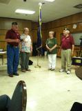 Award ceremony during the chapter meeting on June 6, 2013.