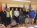 Officers inducted by PDC Gary Burns.