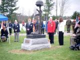 Battlefield Cross dedication at Maine veterans Cemetery in Augusta