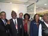 Chapter 3 member Shirley Nichols and other veterans with Mayor Wayne Smith. James Gibbs, Vanessa King