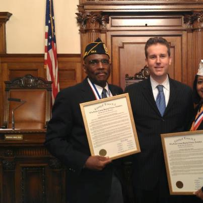 DAV Chapter 3 Commander Clarence Jackson being honored