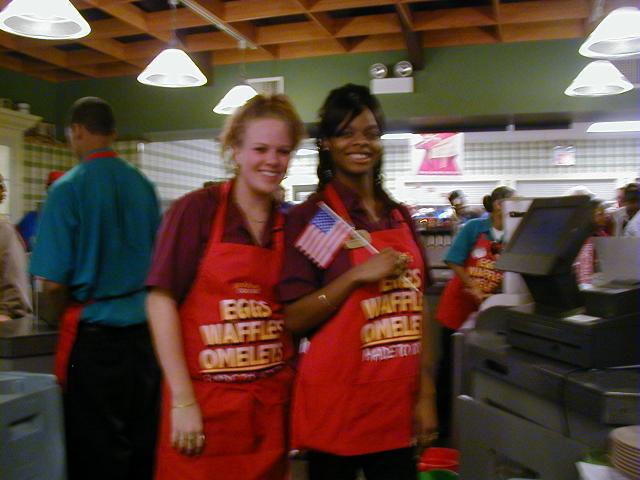 "Golden Corral, ""Military Servicemembers Recognition Day"", Monroeville, Pennsylvania.  Golden Corral served free meals to all Active Military and Veterans who showed proper indentification of service to our nation."