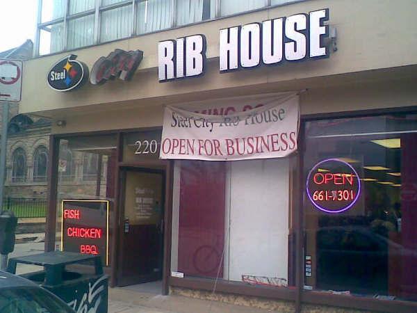 Steel City Rib House 220 North Highland Avenue Pittsburgh, PA.  (412)661-7301
