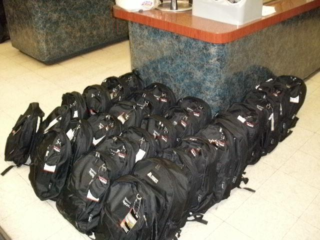 The Backpacks were donated by a selfless California based non-profit company, Soldiers Angels.