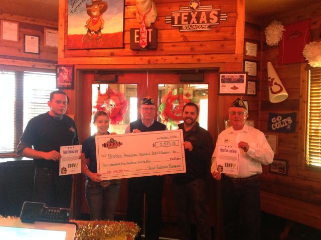 Staff at restaurant conducted fund raiser for DAV