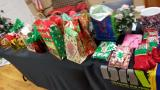40 gifts purchased wrapped and donated by DAVA lifetime member and DAV lifetime member Adjutant Diana Houston for the Christmas Party, because I love my veteran friends and comrades., and look its not upside down...go figure...lol