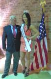 Garrett Hanas with Sharon Gross the new Miss Tennessee for 2015-16, she is a local girl from Clarksville, TN