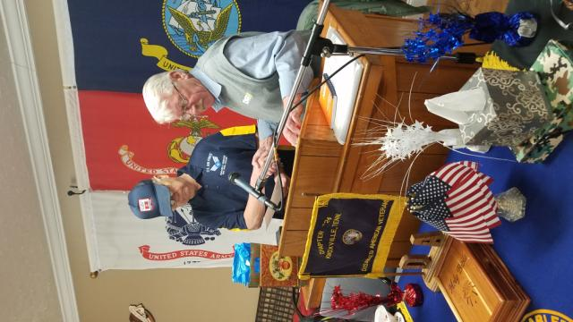Receiving Award from Hank Baker for all his work with Disabled Veterans. I don't know why some photos won't upload correctly.