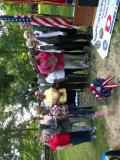 DAV Post 97 Sam Davis, Jim Caldwell, Bob Sweina, Ed Corlew, friends, family, guest at wreath ceremony.