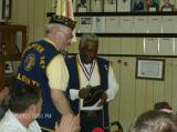 Chapter Chaplain Jones was presented award by Commander Johnson for his support of the Chapter