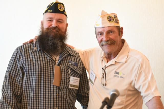 Commander Bobby Harris at the District II meeting while attending the 2019 DAV Convention in Corpus Christi back in June.