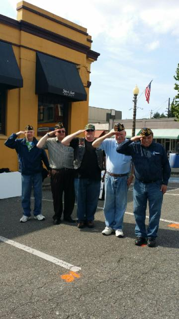 Members saluting our brother vets at the Sky Valley Motorcycle Show.