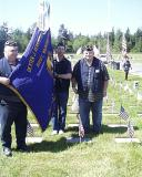CMD/TRES/AND VOLUNTEER @ DEXTERS GRAVES SIGHT