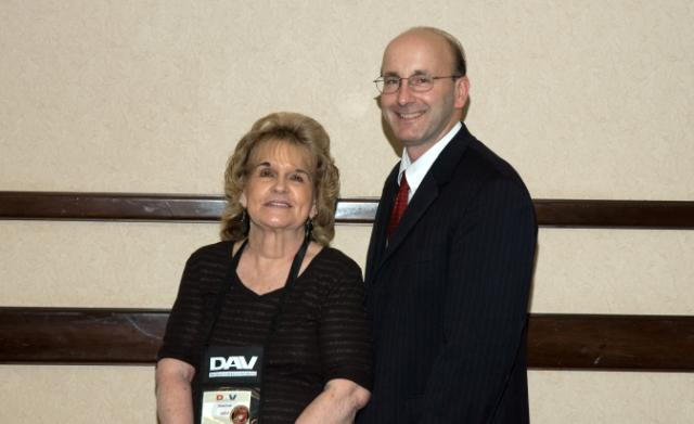 2010-11 Commander Don Inns and Mom, Diane, share the spotlight.