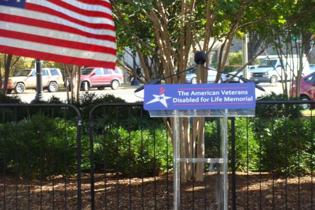 The American Veterans Disabled for Life memorial.