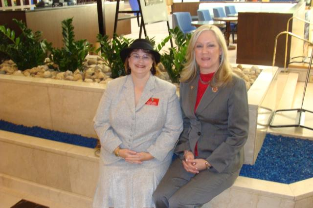 DAV Auxiliary National Commander Susan Henry and Jackie Martin