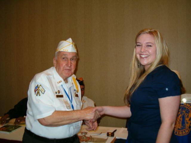 Presented by Commander James Robbins to Miss Jennifer L. Salisbury. grandaughter of John Lubrea member of Chapter 22